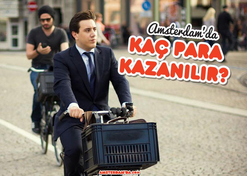 Bisikletle işe giden adam
