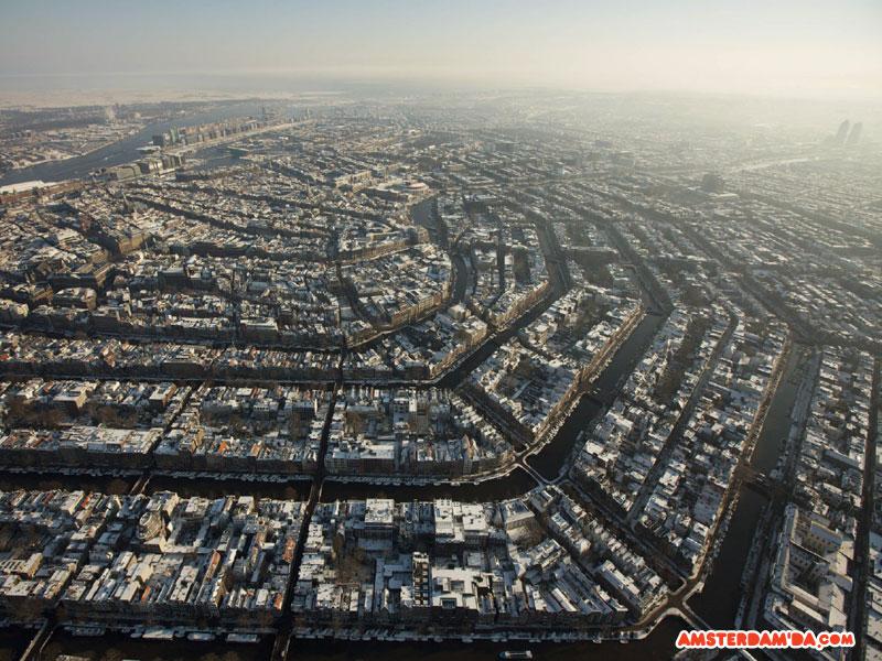 Havadan Amsterdam Kanalları